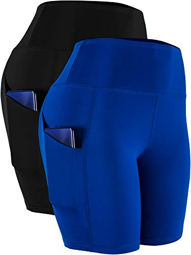 Cadmus Workout Shorts with Pockets High Waist Tummy Control for...