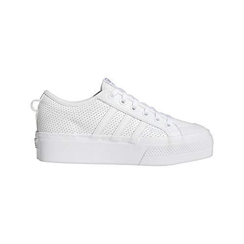 adidas Nizza Platform W, Zapatillas Deportivas Mujer, FTWR White FTWR White Core Black, 38 EU