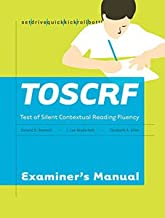 Test of Silent Contextual Reading Fluency TOSCRF (Complete Kit)