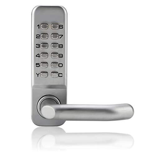 Garsent Mechanisches Türschloss mit Code, Zinklegierung Türdrücker Codeschloss, 1-11Password Zutrittskontrolle Schlüsselloses Sicherheitsschloss für Büro Home