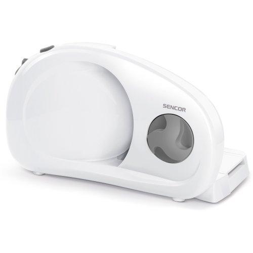 Sencor SFS 1000WH Machine à trancher électrique - 100W - Disque de coupe amovible en acier inoxydable - 170 mm de diamètre Blanc/Gris