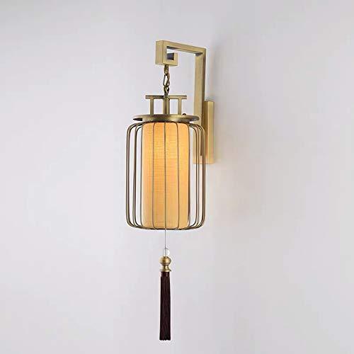 L.J.JZDY - Lámpara de pared creativa, diseño Showroom Hotel, modelo en dormitorio, de hierro forjado, lámpara de pared de 30 x 76 cm