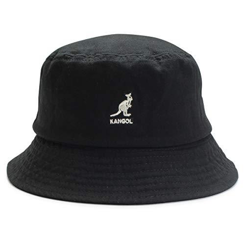 kg-100169215 L BLACK(01) (カンゴール)KANGOL ハット バケットハット メンズ レディース ユニセックス 無地 ブランド コットン ロゴ コットン
