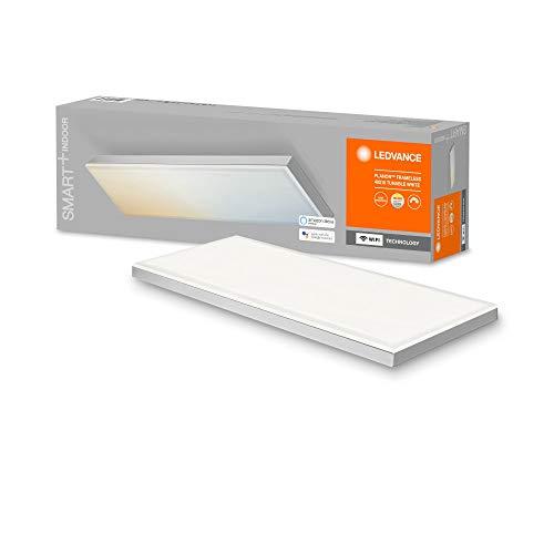 LEDVANCE Plafón LED inteligente, panel interior con tecnología WiFi, color de luz cambiante (3000K-6500K), 400mm x 100mm, compatible con Google y Alexa Voice Control, SMART+ WIFI PLANON FRAMELESS