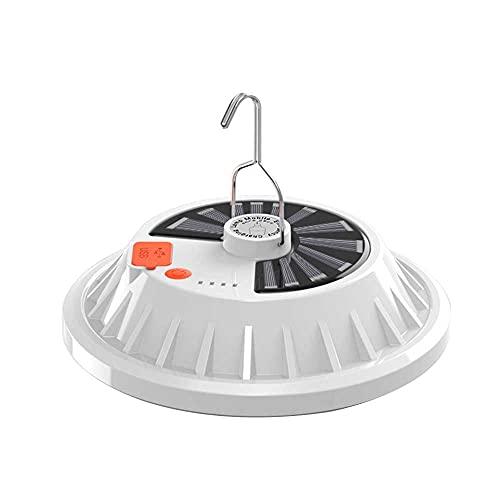 RUMUI Luz Solar UFO con Control Remoto, Carga USB, luz Solar LED con Gancho para Colgar para Tienda de campaña en casa, Senderismo, Viaje, Emergencia