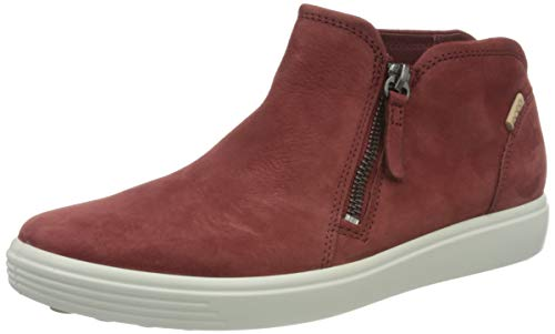 ECCO Damen Soft 7 W Diffuse Sneaker, Rot (Syrah), 41 EU