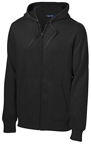 SPORT-TEK Men's Full Zip Hooded Sweatshirt XL Black