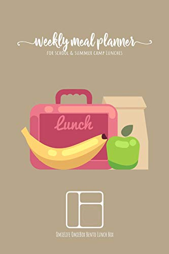 Weekly meal planner for school and summer camp lunches | OmieLife OmieBox Bento Lunch Box: DOWNLOADABLE FREE BONUS Lunch cute Notes PDF + Grocery ... to remember favorite lunchbox combinations.