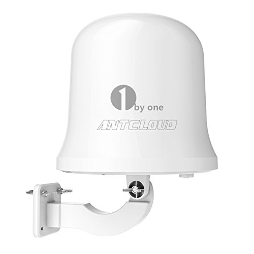 1byone Antcloud Outdoor TV Antenna with Omni-Directional 360 Degree Reception, Amplified 75 Miles...