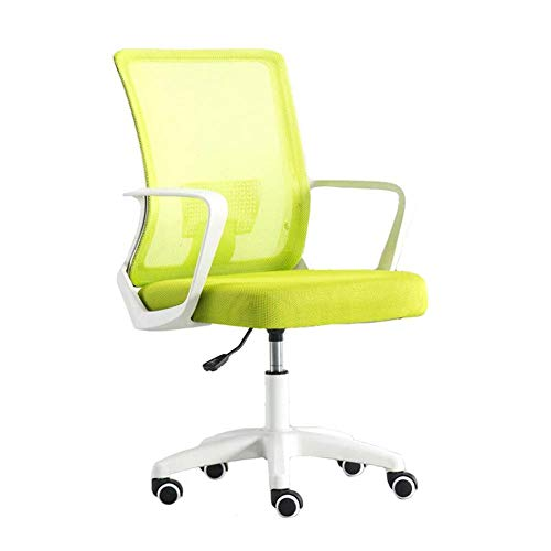 JIEER-C stoelen voor de tijd Libero, in hoogte verstelbare bureaustoel, van hout, stoelen voor stoelen, van netstof, ademend White frame Groen