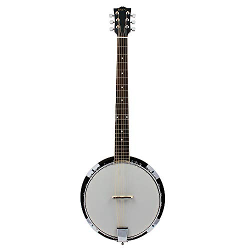 EASON Banjo, Instrumento Musical Occidental de 6 Cuerdas Sapele Material Banjo Music Lovers