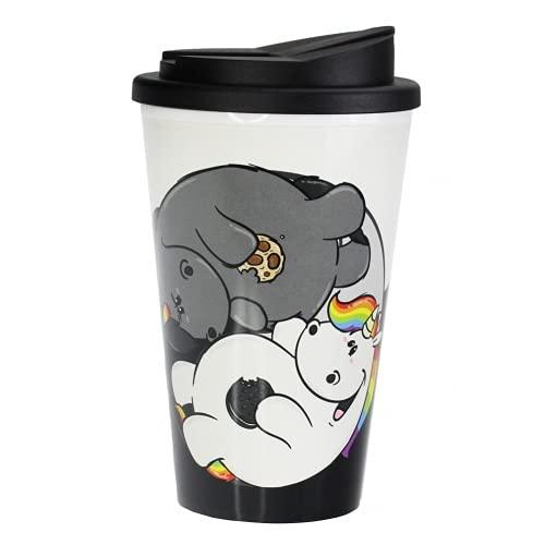 Pummel & Friends - Coffee to go Becher (350 ml) - Pummel & Grummel Yin Yang