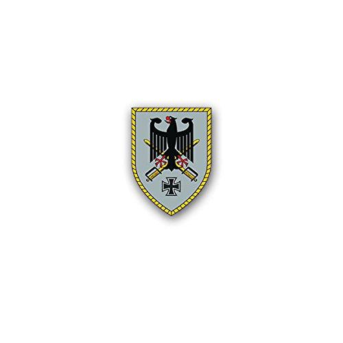 Copytec Aufkleber/Sticker -Kommando Heer Kdo H Kommandobehörde Stab Bundeswehr Deutschland Brandenburg Einheit Militär Wappen Abzeichen 5x7cm #A3141