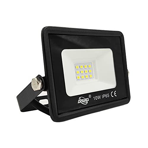 AOMEX Faretto LED da esterno 10W 1000 lumen Faro led Impermeabile IP65 per Giardino Cortile Illuminazione per Esterno/Interno alta luminosità(Bianco Freddo/6500k, 10W) (Bianco Caldo/3000K, 10W)