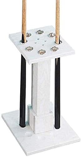 LONGJIQ Piscina de pie Billar Cue Rack School Home Club Snooker Suministros Pueden acomodar 8 Sticks Cue Fácil de instalar-30x24x55cm_Blanco Fantastic