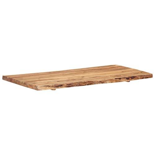 vidaXL Massivholz Tischplatte Baumkante Massivholzplatte Akazie 120x60x3,8 cm - 5