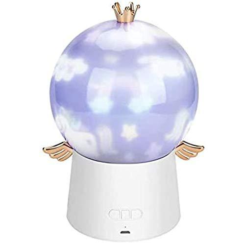 Proyector De Luz Nocturna Star, 3 Colores, Lámpara De Proyección Giratoria De 360 Grados con 6 Películas, Carga USB, Proyector De Luz LED para Bebés con Música