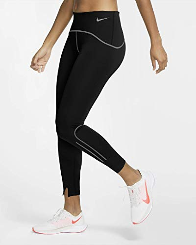 NIKE Pantalones Deportivos Fast Warm Runway para Mujer. Black/Black/Black/Reflective S XL