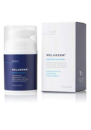 Meladerm Skin Lightening Whitening Bleaching Cream by Civant 1.7 oz