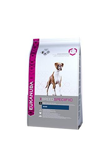 Eukanuba Breed Specific Boxer Trockenfutter - optimal auf die Rasse abgestimmtes Premium Hundefutter mit Huhn, 12 kg