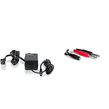 BEHRINGER PSU3-UL 120V Ul Replacement Power Supply for The Mx602A Ub502 Ub802 Ub1002 502 802 and 1002 Black  PSU3UL  & Hosa YMP-434 3.5 mm TRSF to Dual 1/4  TS Stereo Breakout Cable