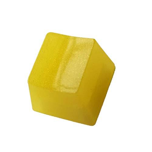 ゲーミングキーボード 機械式キーボードRGB半透圧樹脂キーキャップのための1pc Keycapの手作りのカスタマイズされたOEM R4プロファイル樹脂KeyCap 耐久性、耐摩耗性、防水性 (Color : Yellow)