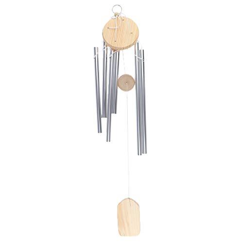 B Blesiya Carillons Suspendus Cloches à Vent Métal Bois Wind Bell Chimes - 6M1301