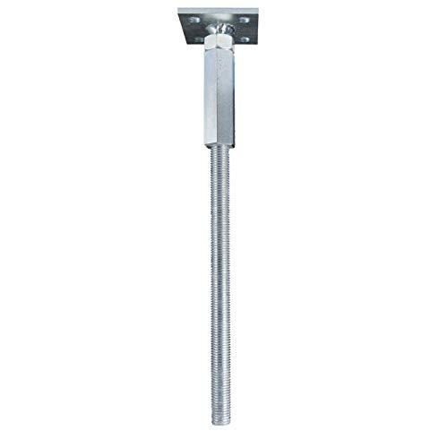 GeZu Impex® Pfostenträger 100 x 100 mm höhenverstellbar zum einbetonieren Stützfuß Pfostenschuh