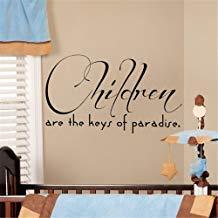 Vivityobert Citas de la vida pegatinas de pared con cita para niños son las llaves del paraíso decoración del hogar