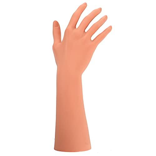 Cabilock Armband Ständer Mannequin Hand Ringhalter Schmuckhalter Schmuckständer Nagel Übungsfinger Maniküre Praxis Hände Finger Modell für Schmuck Ring Halsketten Handschuh Uhr...
