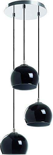 EXO Lighting - Lámpara colgante ESTIKLA negro 3 luces E14…