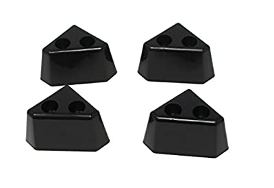 JSP Manufacturing 4 Pack of Black Plastic Furniture Triangle Corner Legs - Sofa Couch Chair