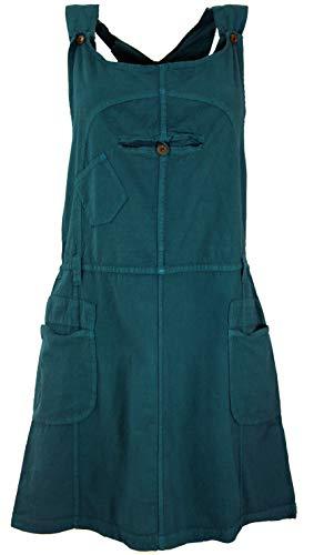 Guru-Shop Latzrock, Trägerkleid, Hippierock, Damen, Petrol, Baumwolle, Size:M (38), Röcke/Kurz Alternative Bekleidung