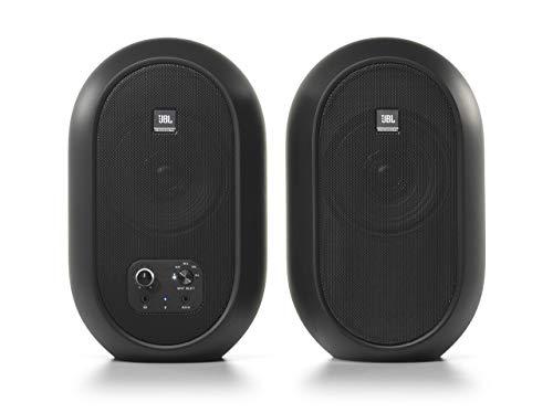 Monitores de referencia de escritorio compactos JBL Professional 1 Series 104-BT con Bluetooth, negro, vendidos como pares, (JBL104-BT)