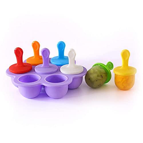 Bandejas para cubitos de hielo, 7 agujeros de silicona, molde para hacer bolas de gelatina de helado de bricolaje, molde para nevera de verano, reutilizable y sin BPA, para cócteles, whisky, mantener