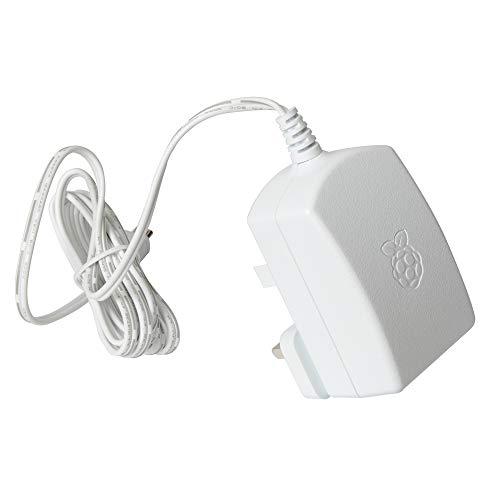 Raspberry Pi Accessoire pour boîtier 3 Power Supply 5.1V 2.5A Blanc - Adaptateur secteur 5.1 V 2.5 A Avec fiches internationales pour 3