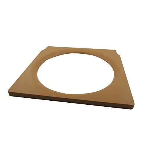1x Ersatz Toilettenbrille Brille Toilettensitz Sitzbrille für Toilettenstuhl Holz