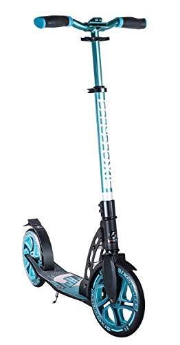 Six Degrees Aluminium Scooter TS - Tretroller, 230 mm, ABEC 7 Kugellager, für Kinder & Erwachsene, GS-geprüft, höhenverstellbar, türkis
