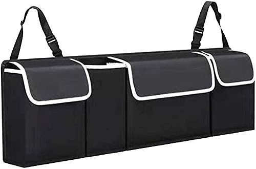 Bolsa de almacenamiento de equipaje, múltiples bolsillos, hebilla de cinturón ajustable resistente y estable, bolsa de almacenamiento plegable de PVC impermeable, mantiene el automóvil ordenado