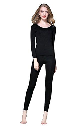 Vinconie sous Vetements Thermique Femme Vetements Chauds Pantalon de Ski Femme