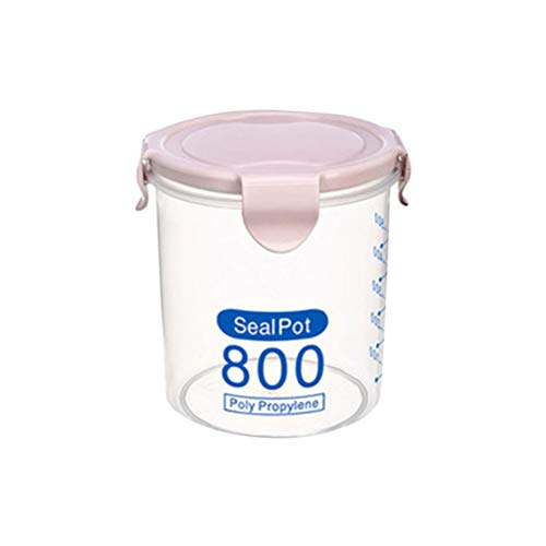 Yardwe Transparent boîte alimentaire hermétique conteneur alimentaire boîtes scellées pour noix thé fruits rose 800ml