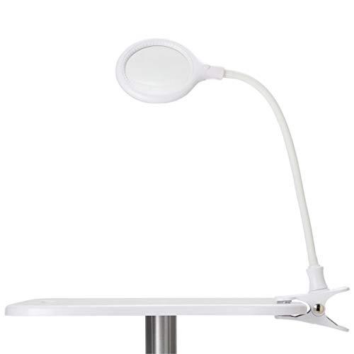 LED クリップ式 拡大鏡 ライト [ クリップライト LEDライト LEDランプ 卓上ライト デスクライト テーブルライト アームライト デスクスタンド 電気スタンド 拡大ライト 拡大レンズ 照明 ランプ ルーペ 小型 コンパクト ]
