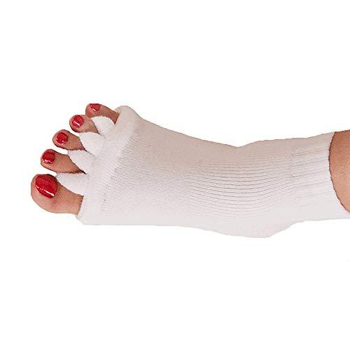 XBRTFH Calcetines De Pilates con Cinco Dedos Ahuecados para Mujer Calcetines Antideslizantes Cálidos De Algodón De Invierno para Mujer