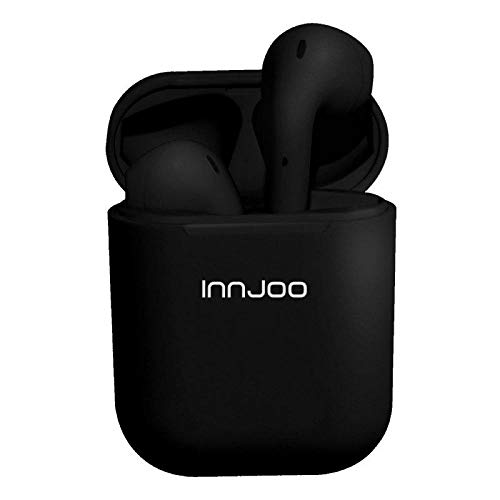 InnJoo Auriculares Bluetooth GO Black - BT 5.0 TWS - BATERÍA Auricular 30MAH - Estuche DE Carga 400MAH