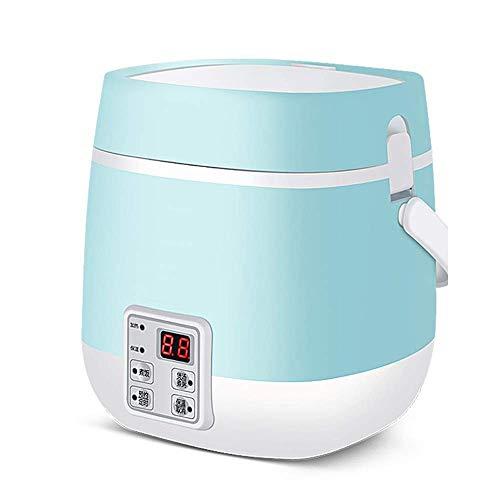 Wohnaccessoires Elektrischer Reiskocher mit Keramik Warm macht Suppen Keramik Liner Unbeschichtete Eintöpfe Körner Heißes Getreide Automatische Isolierung Multifunktions-Mini-Intelligenter Isolierd