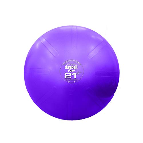 Fitterfirst Duraball Pro Exercise Ball - Strengthen Core & Improve Balance - 25'/65cm - Blue