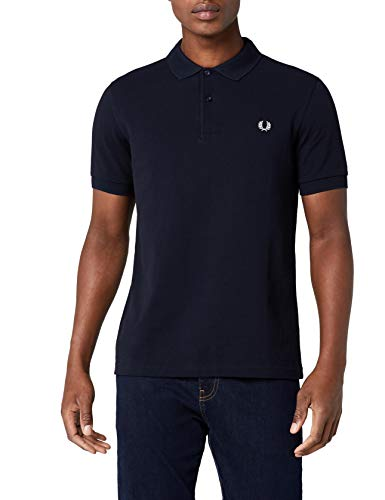 Fred Perry Plain Polo, Negro (Black), M para Hombre