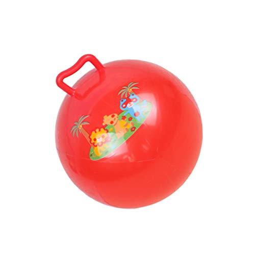 Kisangel Pelotas para niños que rebotan bolas con tolva de 25 cm. Pelota de salto de fitness colorida, equilibrio terapéutico, pelota con mango, juguete de correr para interiores al aire libre