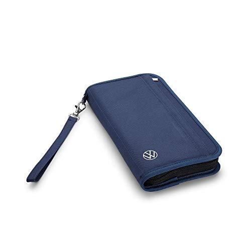 Volkswagen 000087703PA Reiseetui RFID Blocker Travel Case Reisebörse Etui Dokumentenmappe, Blau, Mittel