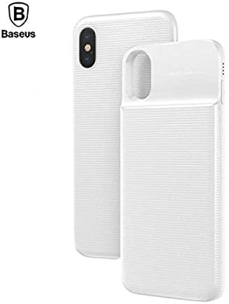 Capa Carregadora Wireles Iphone X Xs Baseus 5000mah, Baseus, IPX-ABJ0-02, Branco